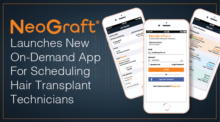 NeoGraft® Launches New On-Demand Hair Transplant Technician Scheduling App For Physician Partners