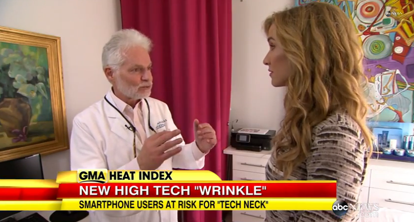 Good Morning America Investigates Tech Neck Beauty Concern