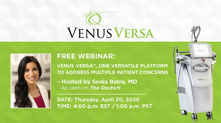 [WEBINAR]: Venus Versa™, One Versatile Platform to Address Multiple Patient Concerns